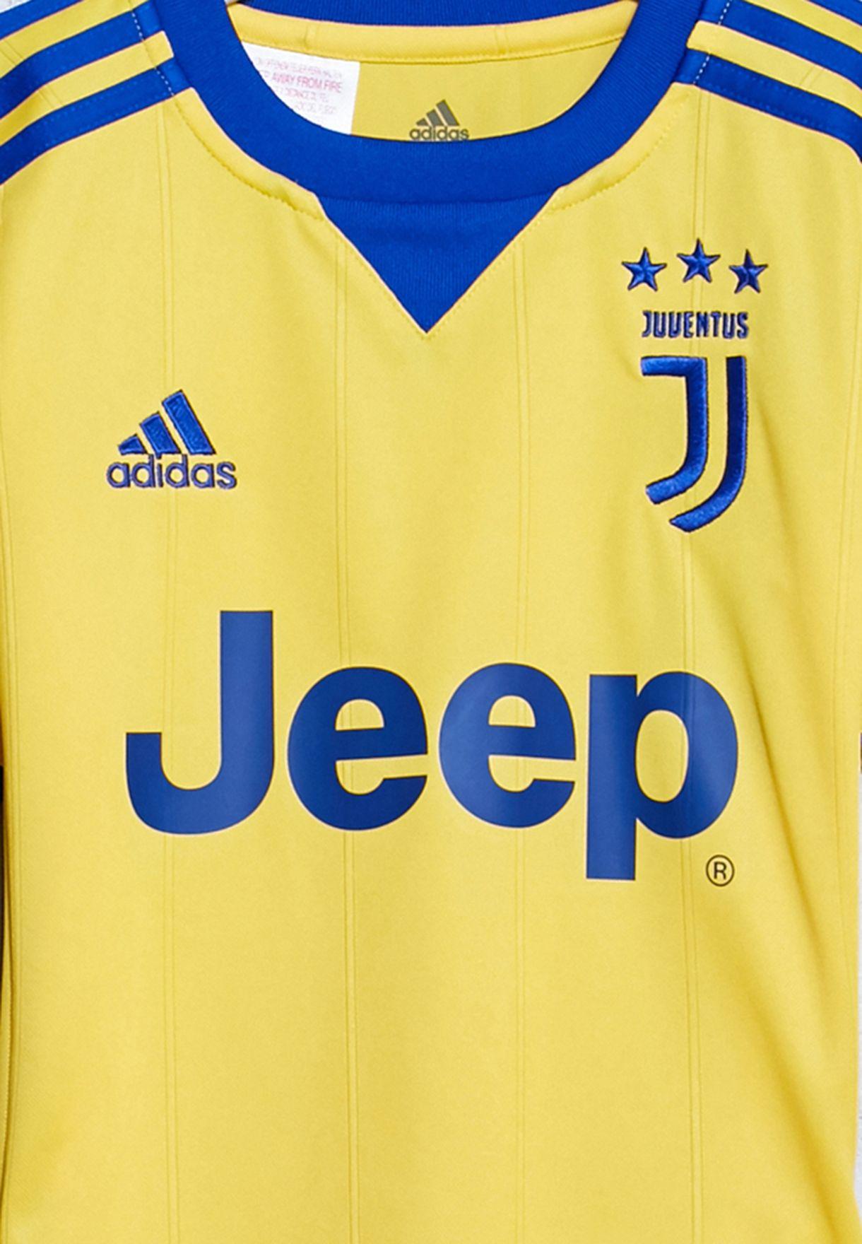 31a7efc2b Shop adidas yellow Youth Juventus Away Jersey AZ8690 for Kids in UAE ...