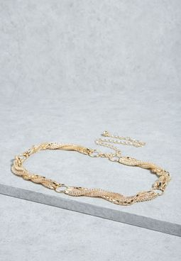 Twisted Plait Chain Belt