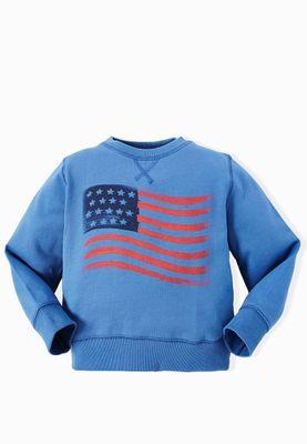 MANGO Kids Fenchy Flag Sweatshirt