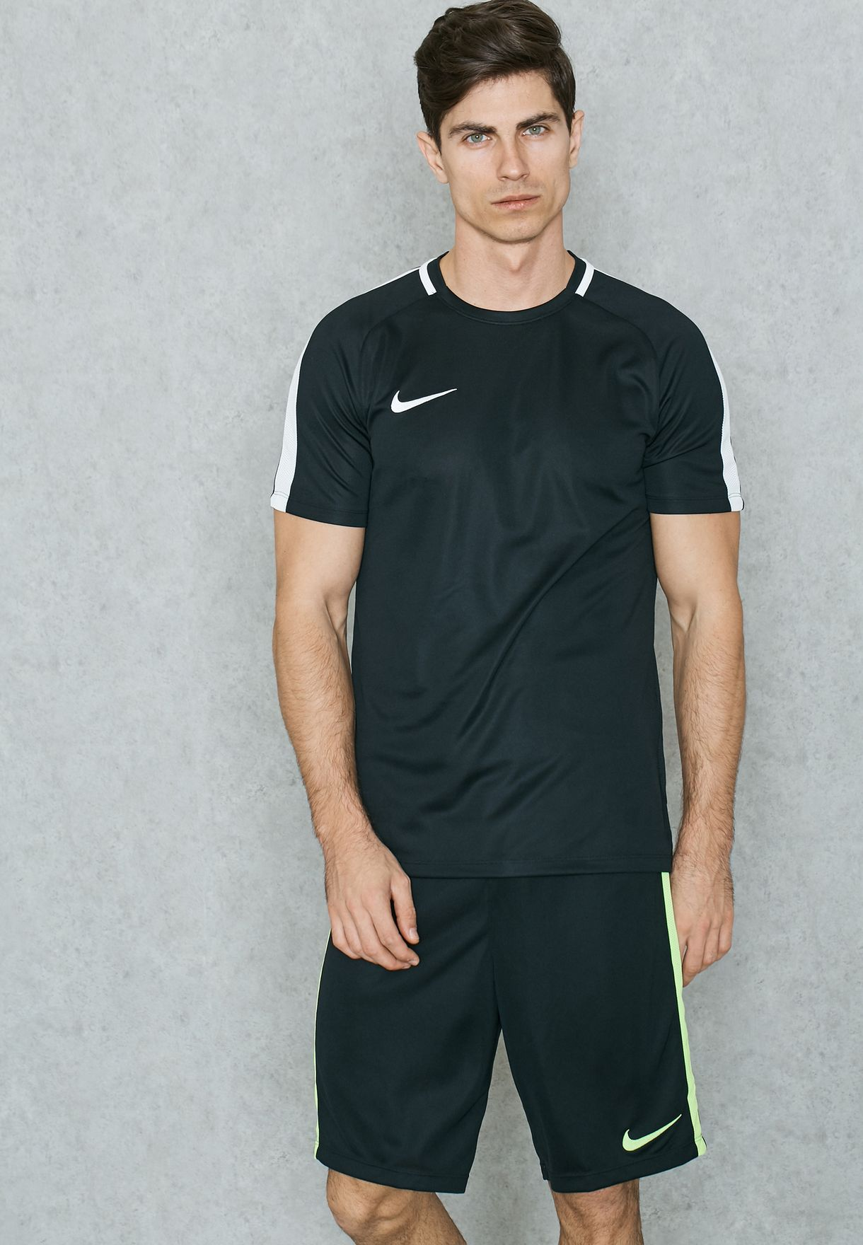 43512354 Shop Nike black Dri-FIT Academy T-Shirt 832967-010 for Men in UAE ...