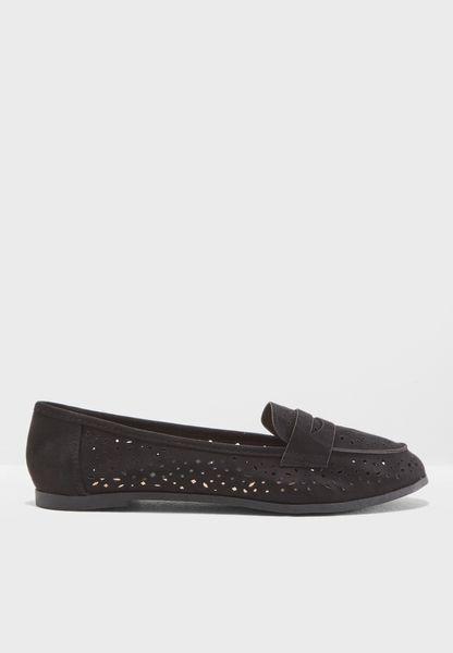 Wide Fit Black Lana Loafer