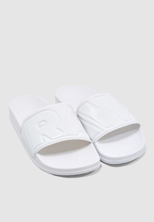 quality design c2585 c2b14 Logo Strap Casual Slides