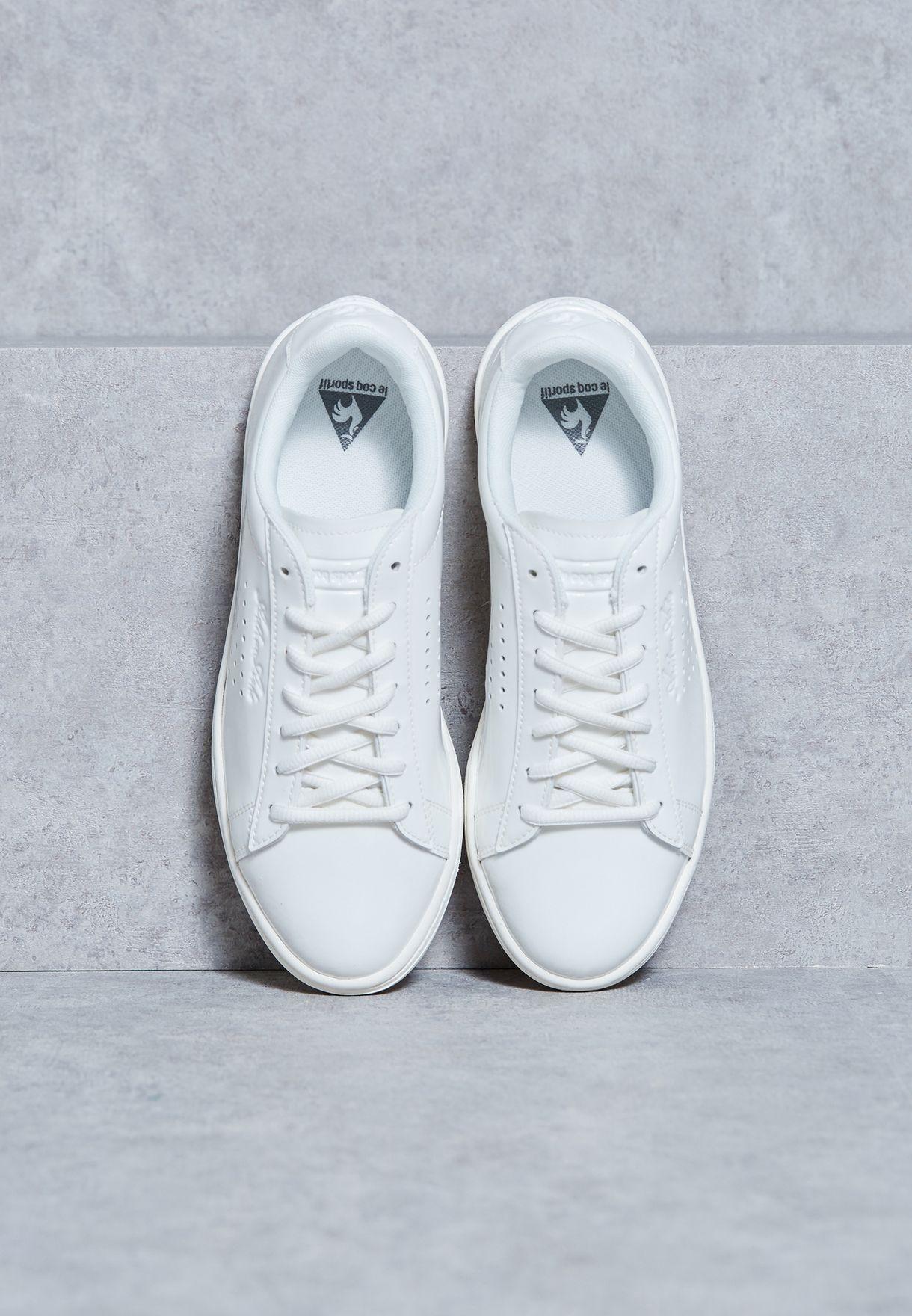 03ffa752a753 Shop Le Coq Sportif white Arthur Ashe Patent Sneakers 1620241 for ...