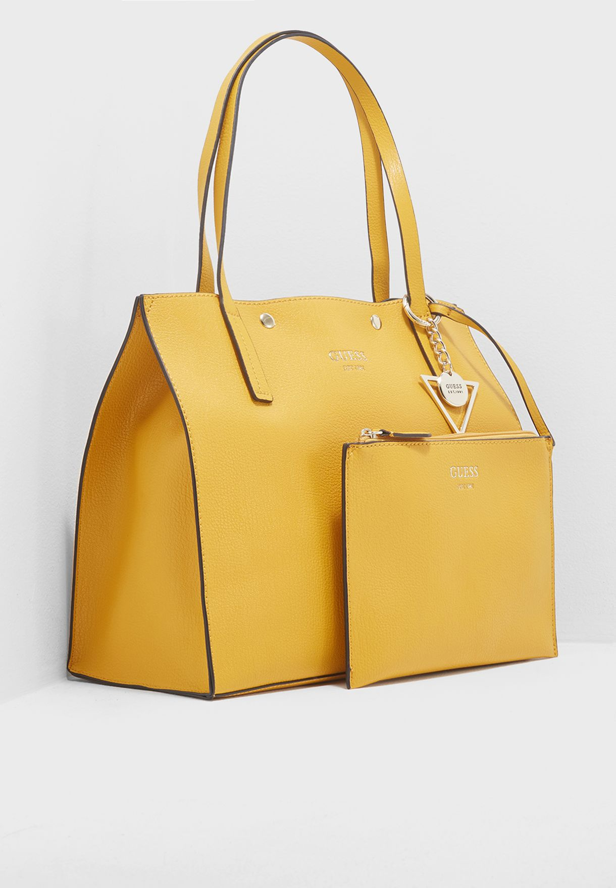 6b98dff4337 Shop Guess yellow Kinley Shopper Bag VG677823 for Women in Kuwait -  GU094AC94PHP