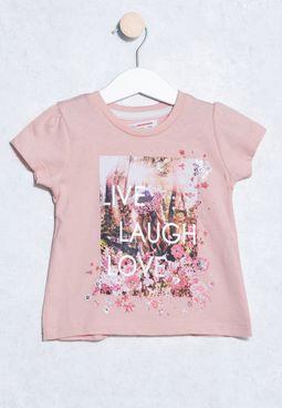 Infant Slogan Print T-Shirt