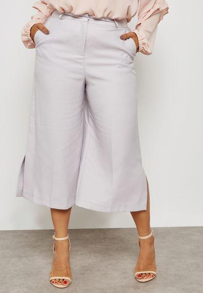 Side Split  Wide Crop Pants