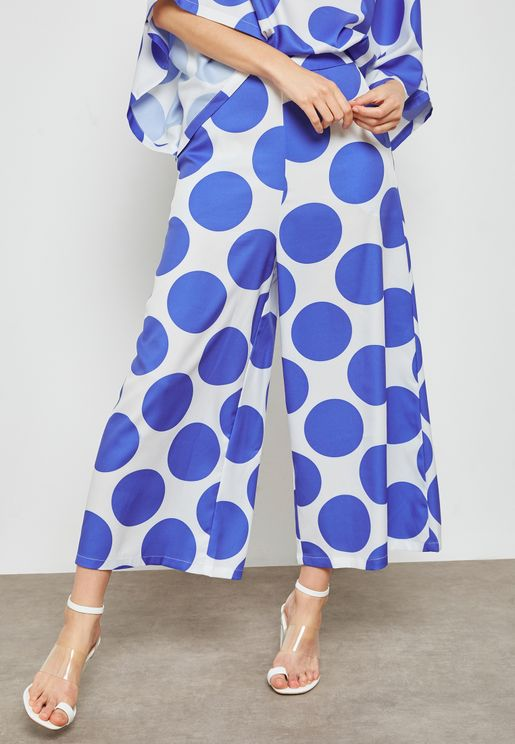 Oversized Dots Wide Cullotes