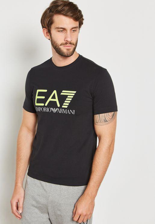 17ec68110 Train Fluo Logo Series Crew Neck T-Shirt. PREMIUM. EA7 Emporio Armani