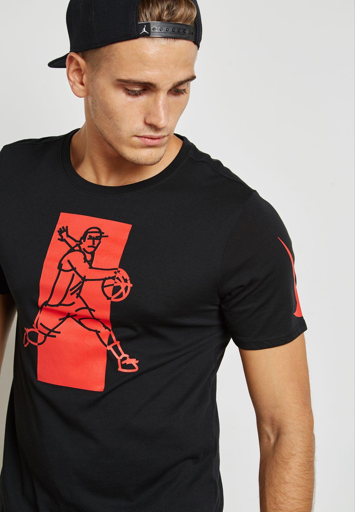 910b090e Shop Nike black Dri-FIT Kyrie T-Shirt 882180-010 for Men in UAE ...