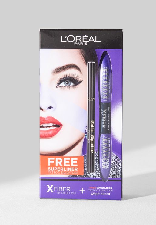 False Lash X-Fiber Mascara + Free Superliner Tattoo Signature Eyeliner