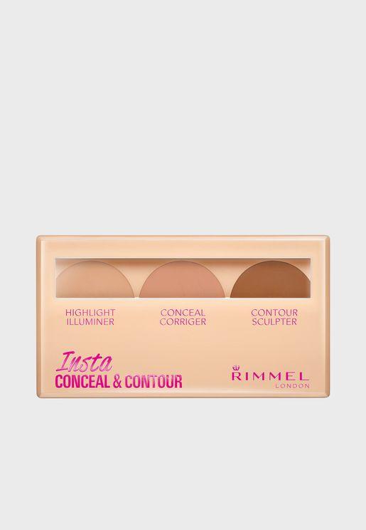 Insta Conceal & Contour Palette - Medium