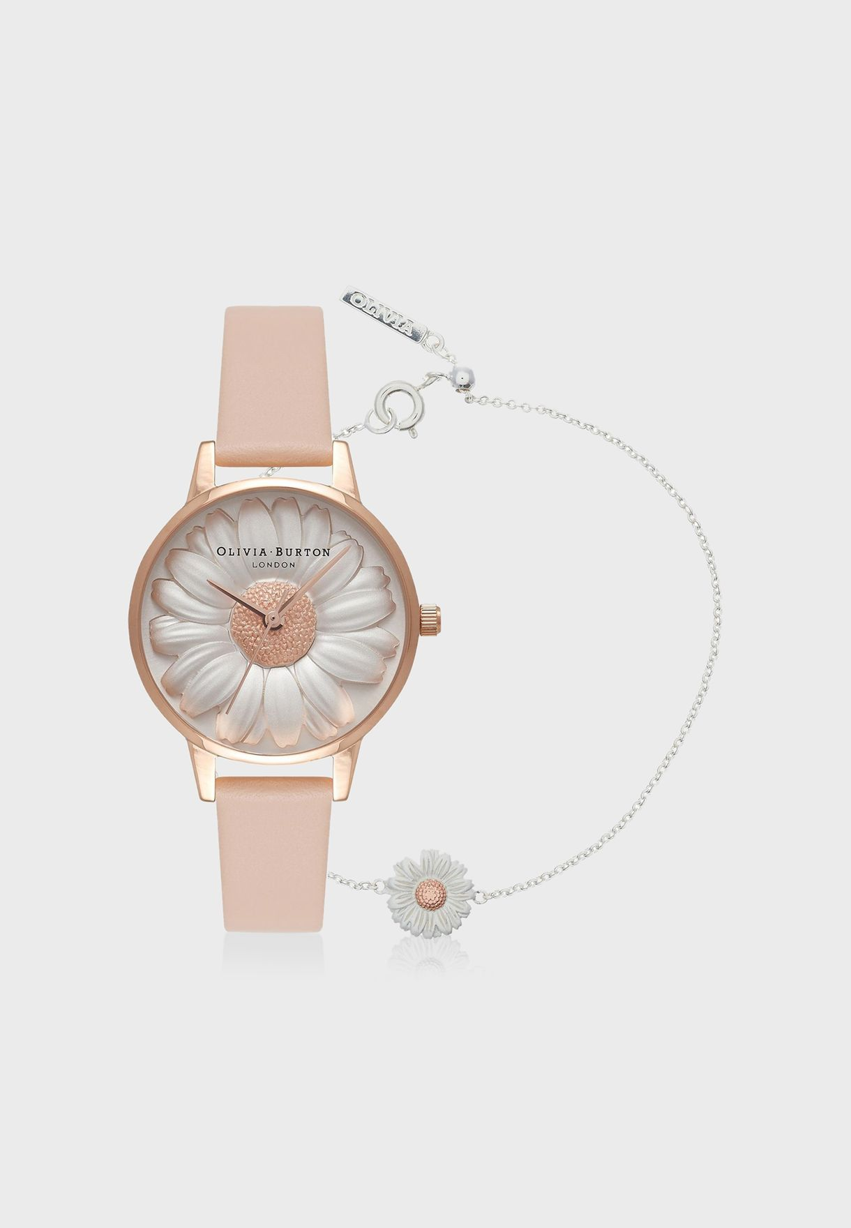 3791ccb75358 Shop Olivia Burton beige 3D Daisy Watch OB16GSET18 for Women in ...