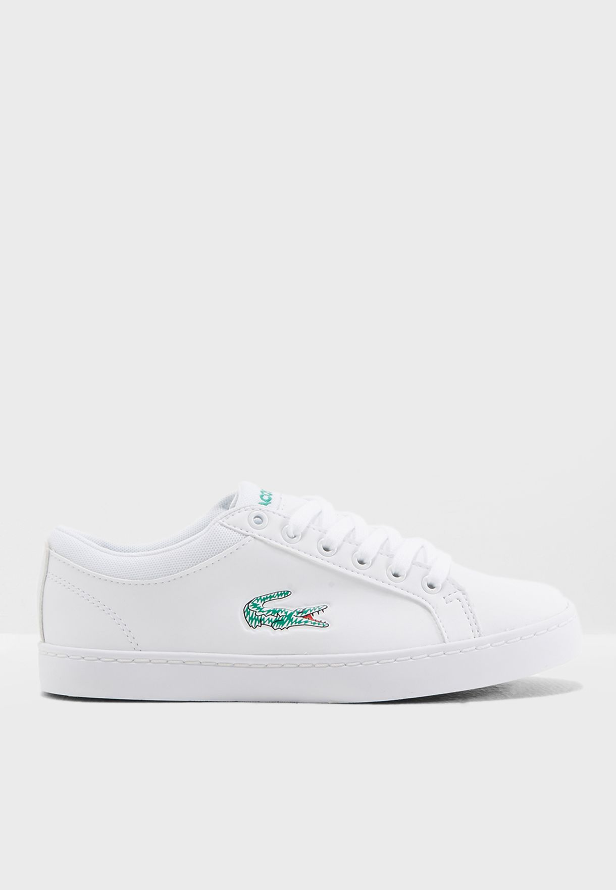 5caf666083d470 Shop Lacoste white Youth Straightset Lace 118 1 Sneaker 35CAJ0024 ...