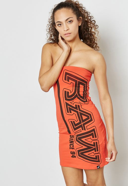 Slogan Tube Dress Dress