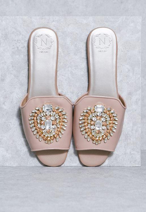 Bejewelled Sandals