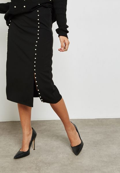 Pearl Double Slit Skirt