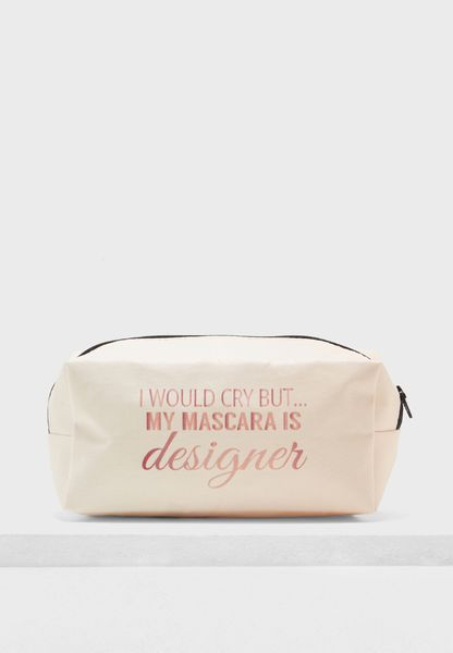 Slogan Cosmetic Bag