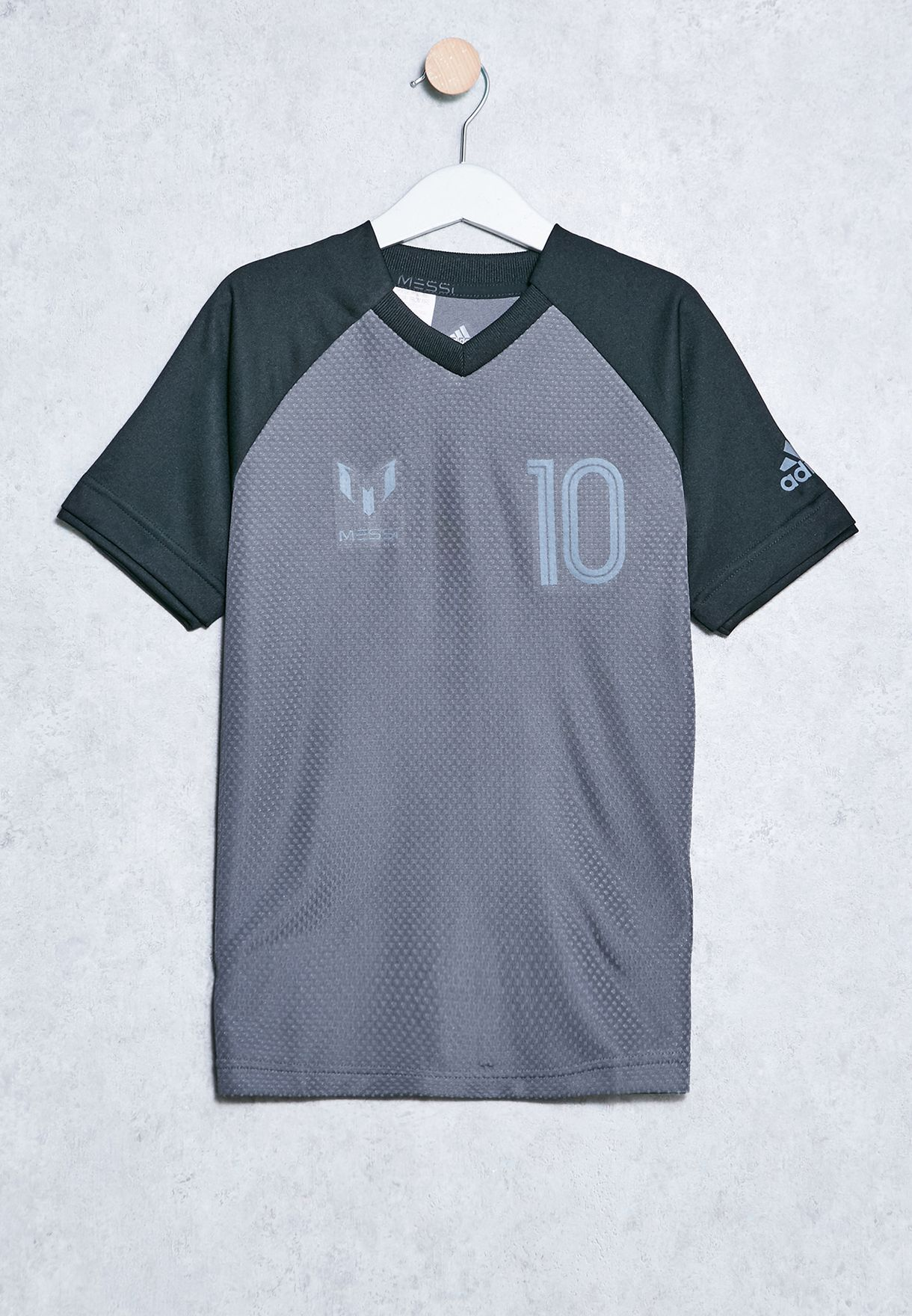 f01535a44 Shop adidas grey Youth Messi T-Shirt CE9291 for Kids in Saudi ...