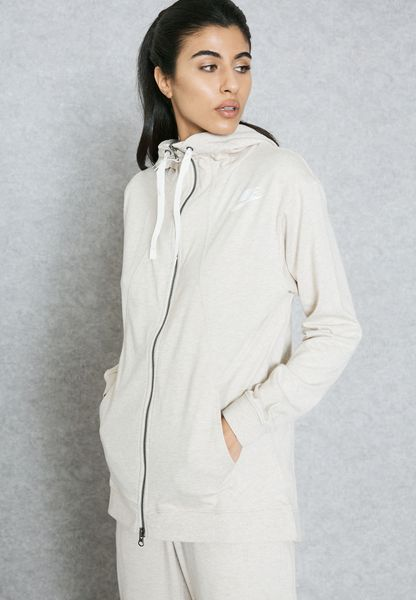 47b043c55c8b hot sale Shop Nike beige Gym Classic Hoodie 854961140 for Women in ...