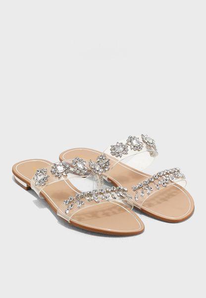 Flat Embellished Sandal