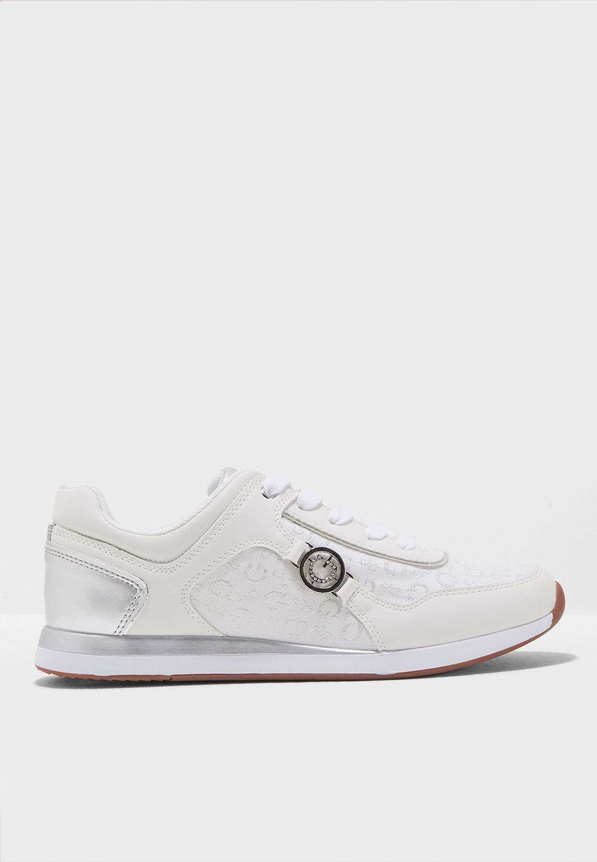 8c51655db5e Shop Guess white Cleo Lace Up Sneaker WGCLEO‐B for Women in UAE ...