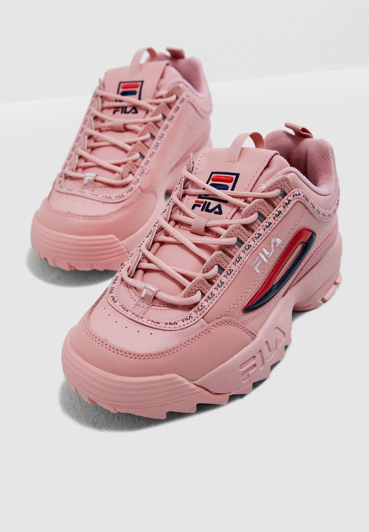 a76b6d6e0814f Shop Fila pink Disruptor Il Premium Repeat 5FM00079-682 for Women in ...