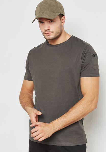 Kershaw Pocket Detail Crew Neck T-Shirt