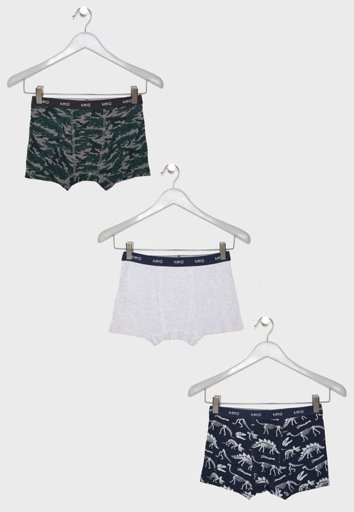 Kids 3 Pack Boxer Shorts