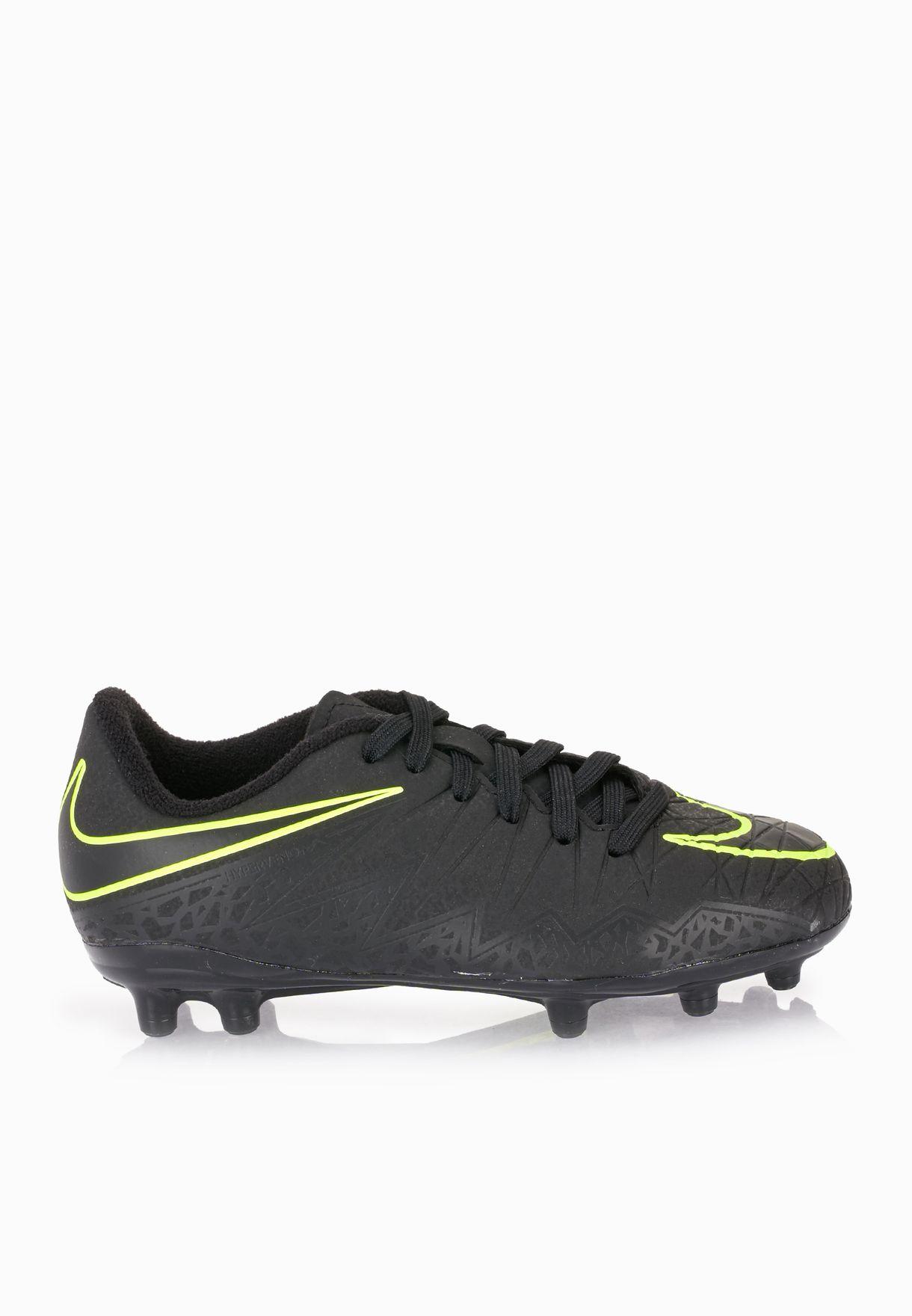 93abb15ef Shop Nike black Youth Hypervenom Phelon II 744943-009 for Kids in ...