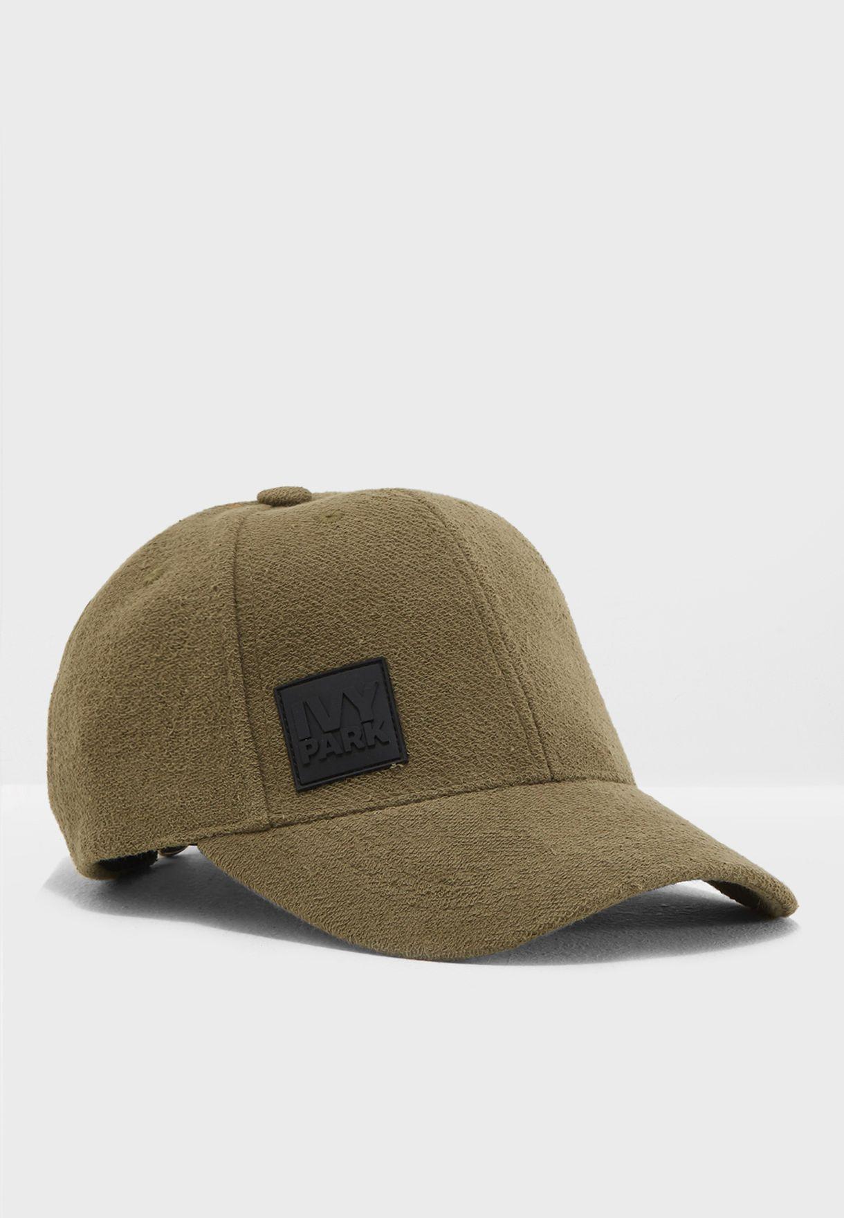 753538d7b15 Shop Ivy Park green Reverse Loopback Baseball Cap 29A35PDGN for ...