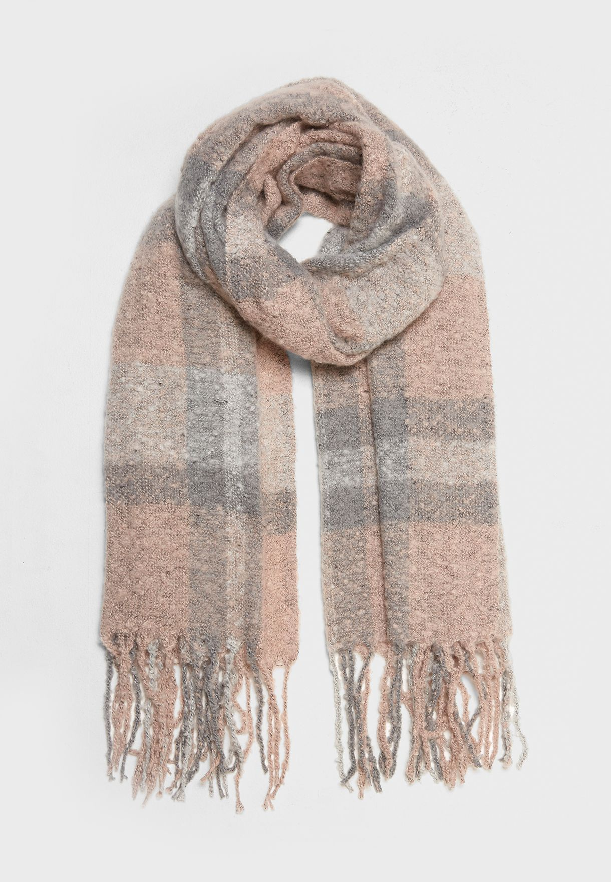 Janet Light Check Scarf