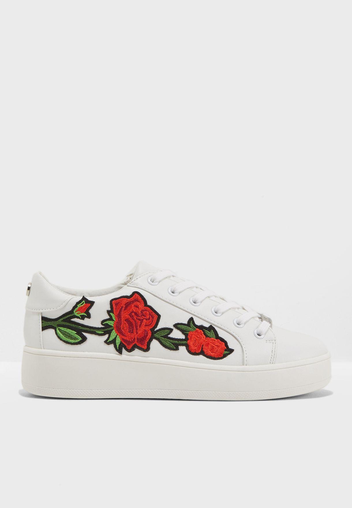 8ae8c13bdbd Shop Steve Madden white Bertie-P Sneakers BERTIE-P for Women in UAE ...