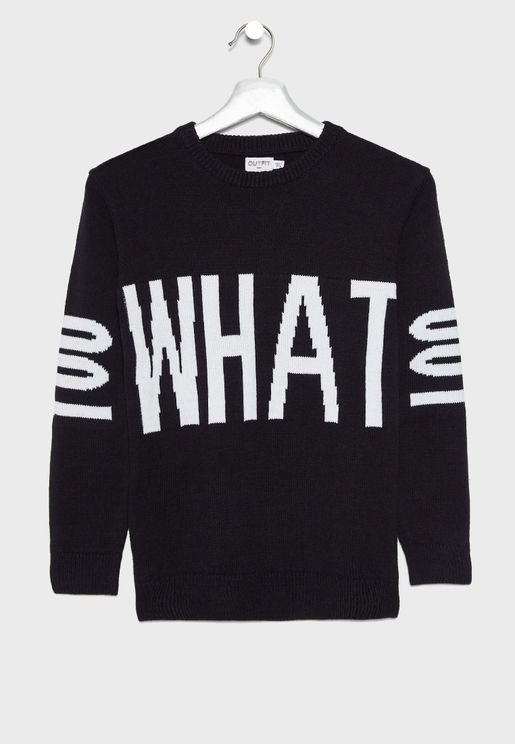 Teen Slogan Sweater