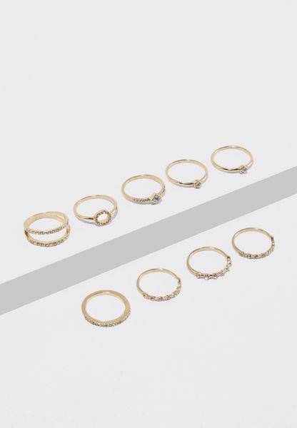 Multipack Assorted Rings