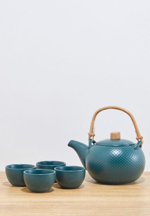 طقم ابريق شاي مع 4 اكواب