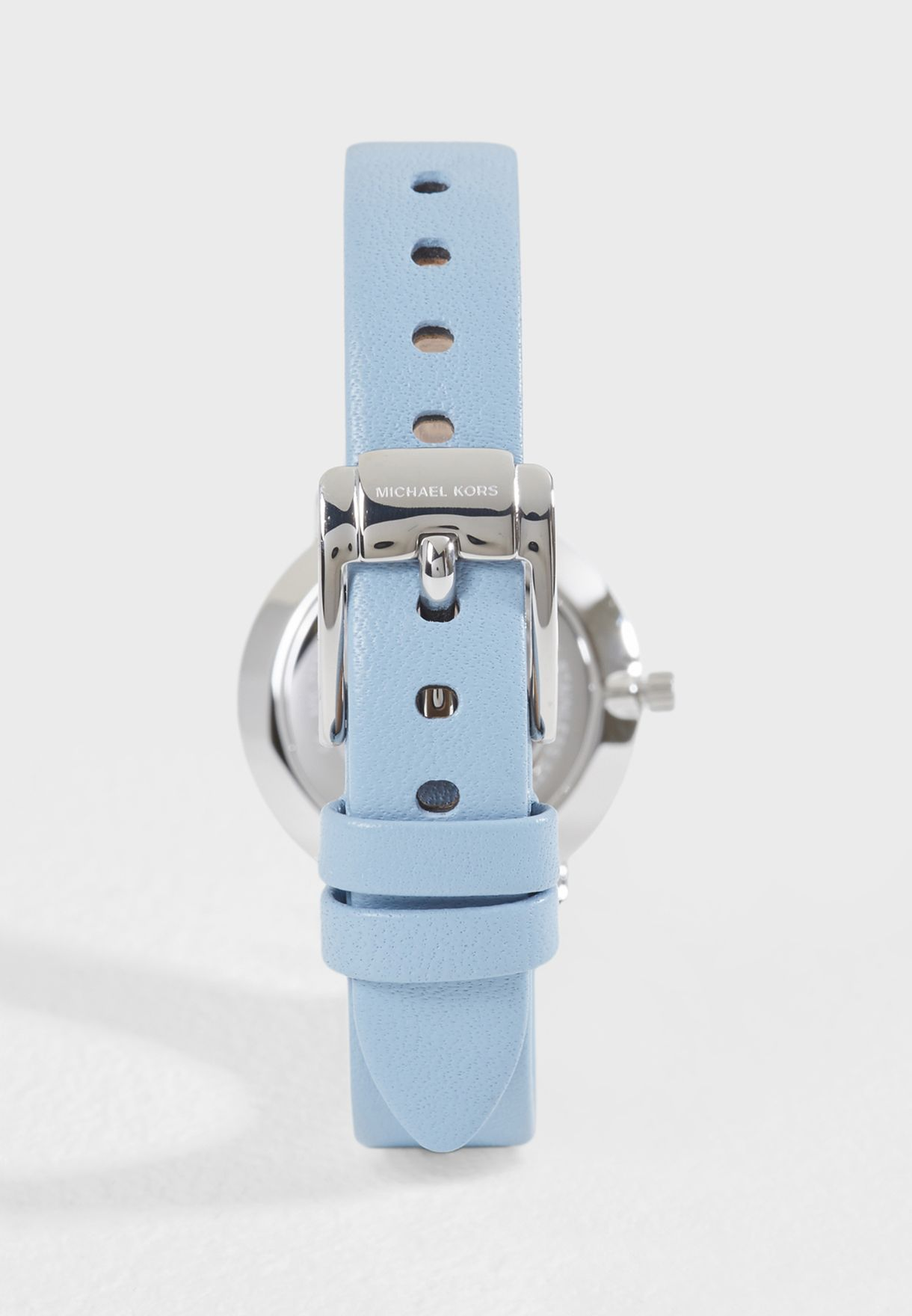 e0b9fe717bb7 Shop Michael Kors blue Casual Leather Strap Analog Watch MK2733 for ...