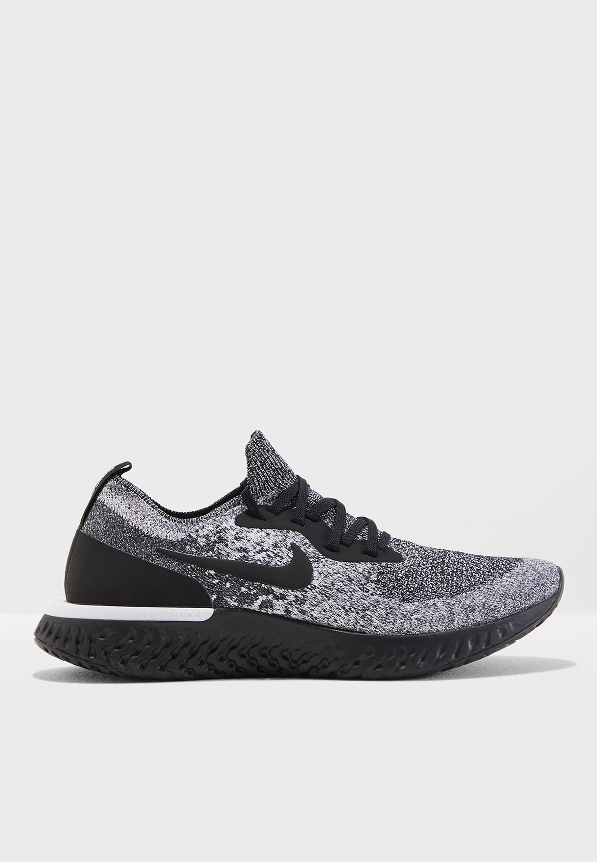 299290fb60a18 Shop Nike black Epic React Flyknit AQ0070-011 for Women in Saudi ...