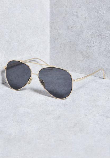 """نظارة شمسية كلاسيكية بنمط """"افياتور"""""""