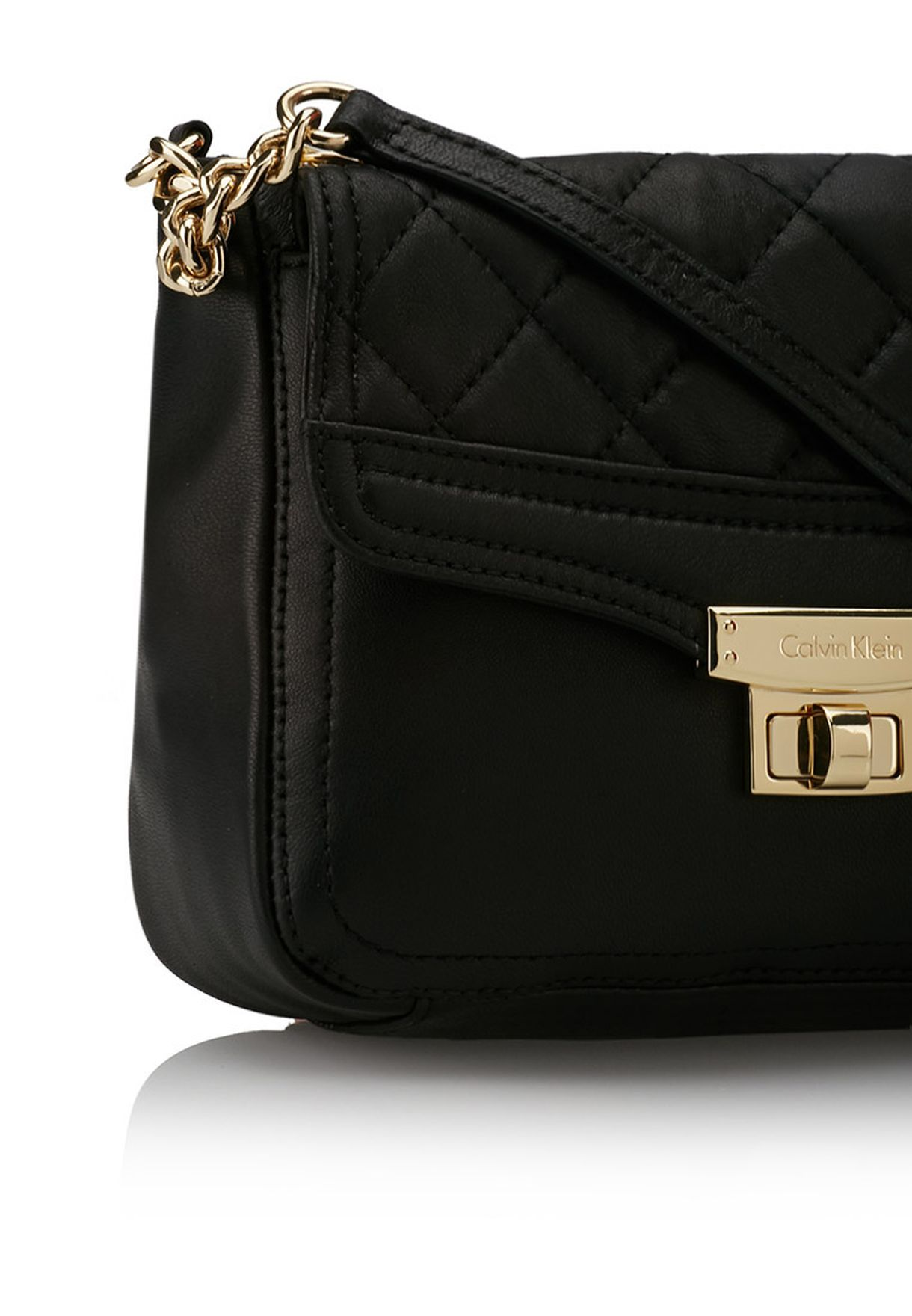 661a4d2da654 Shop Calvin Klein black Fermo Quilted Crossbody for Women in UAE ...