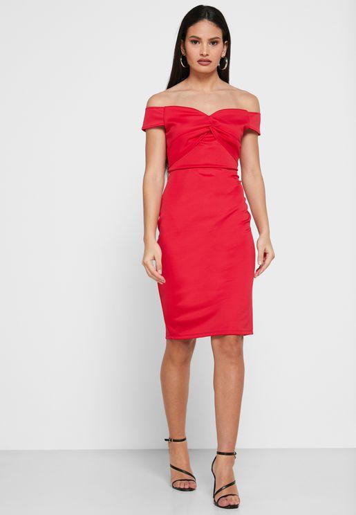 Bardot Twisted Dress