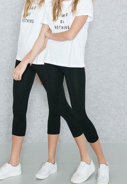 2 Pack Cropped Leggings