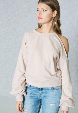 Col Shoulder Sweatshirt