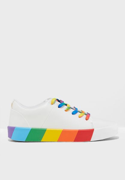 Low-top Rainbow Sneakers
