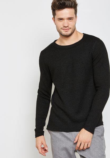Shop Jack Jones black Altan Sweatshirt 12129123 for Men in Kuwait ...