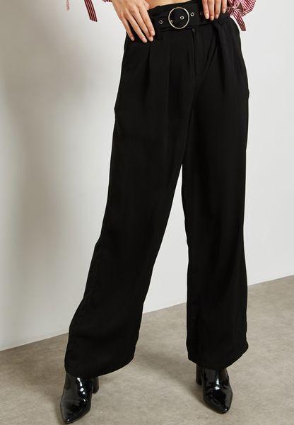 Ring Detail Wide Leg Pants