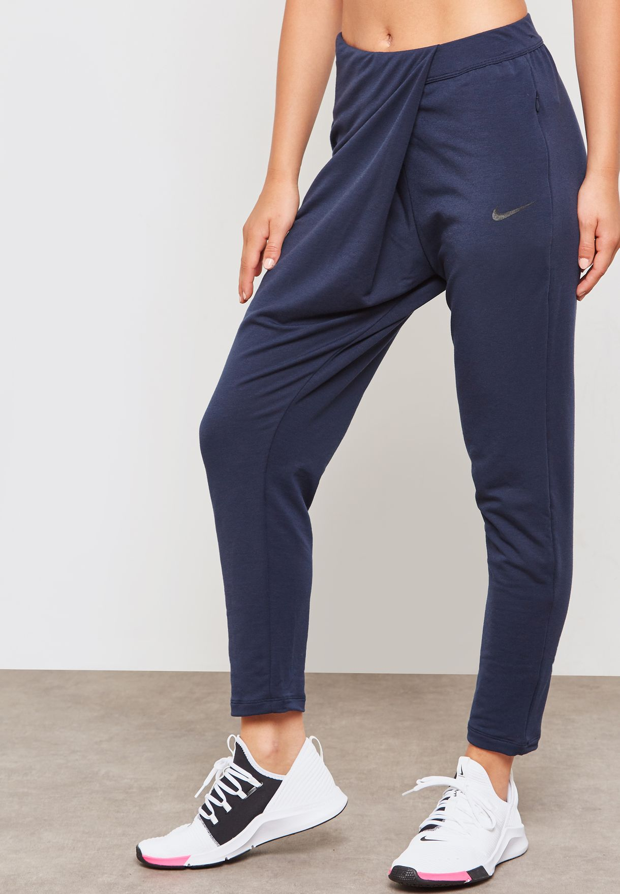 9bb2922890406c Shop Nike navy Dri-FIT Studio Pants 933436-451 for Women in UAE ...