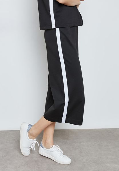 Contrast Striped Culottes