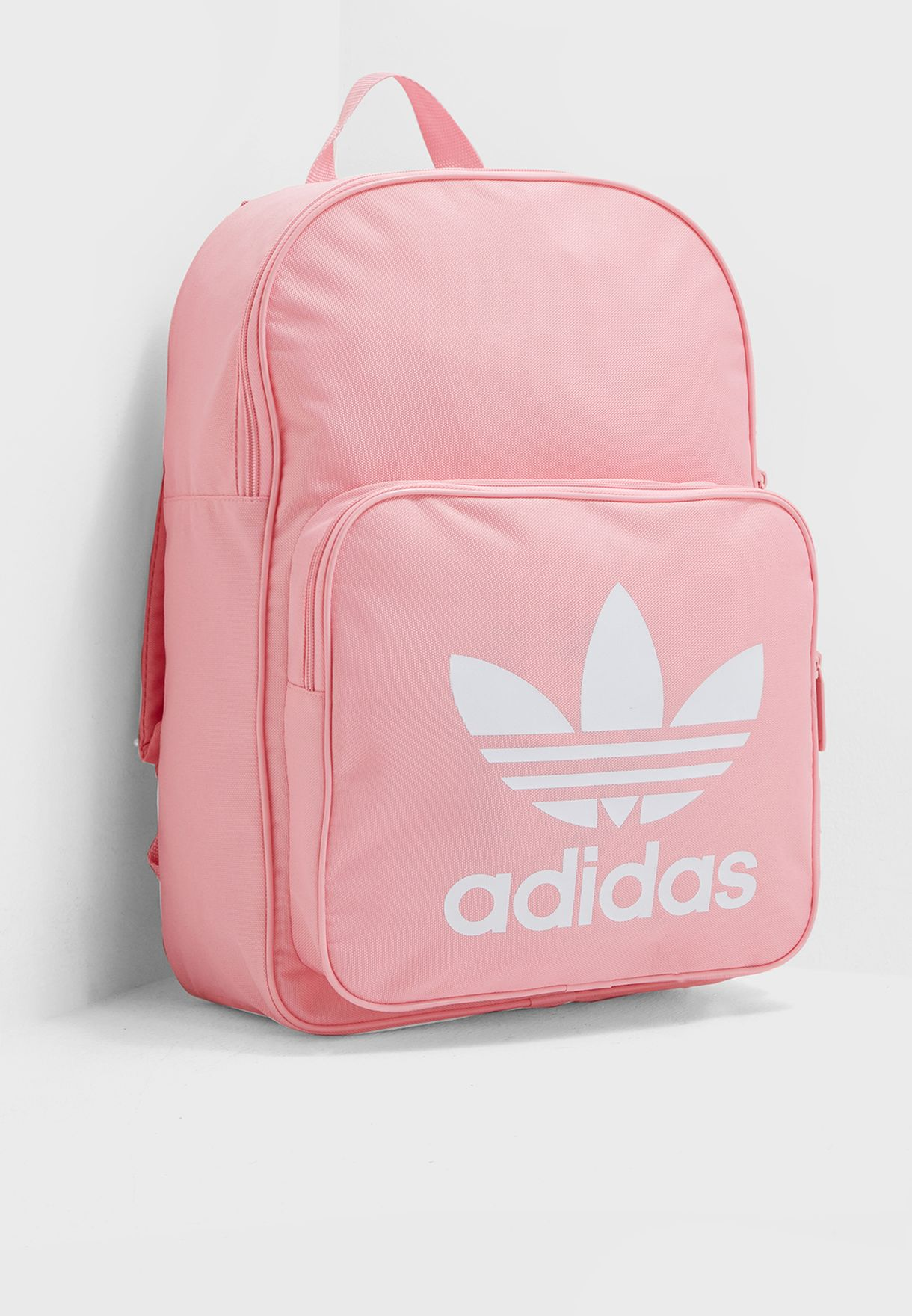 Shop adidas Originals pink Classic Trefoil Backpack DJ2173 for Women ... e89a8f5ef1d89