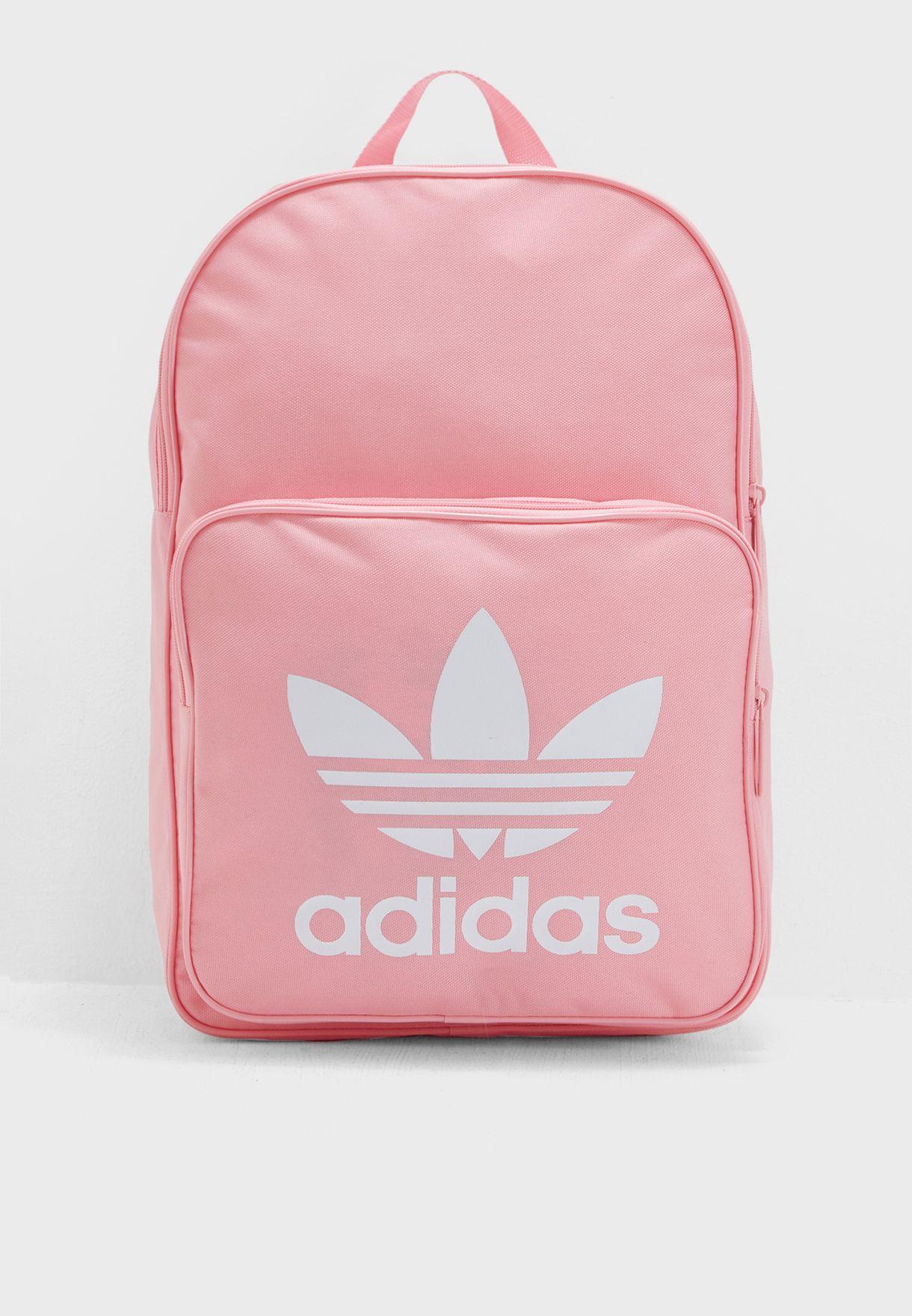 3bf8771d11ba Shop adidas Originals pink Classic Trefoil Backpack DJ2173 for Women ...
