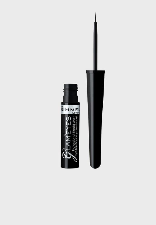 Glameyes Professional Liquid Liner- 001 Black Glamour